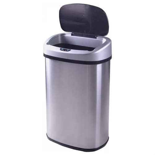 13-Gallon Touch-free Sensor Automatic Stainless Steel Trash Can F/S $30
