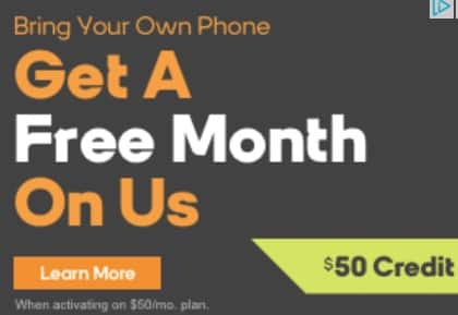 Buy a Month, Get a Free Month of $50 Unlimited plan (Bring Your Own Phone) Boost Mobile