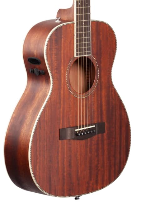 Fender PM-TE all solid acoustic/electric guitar with hard case - $270