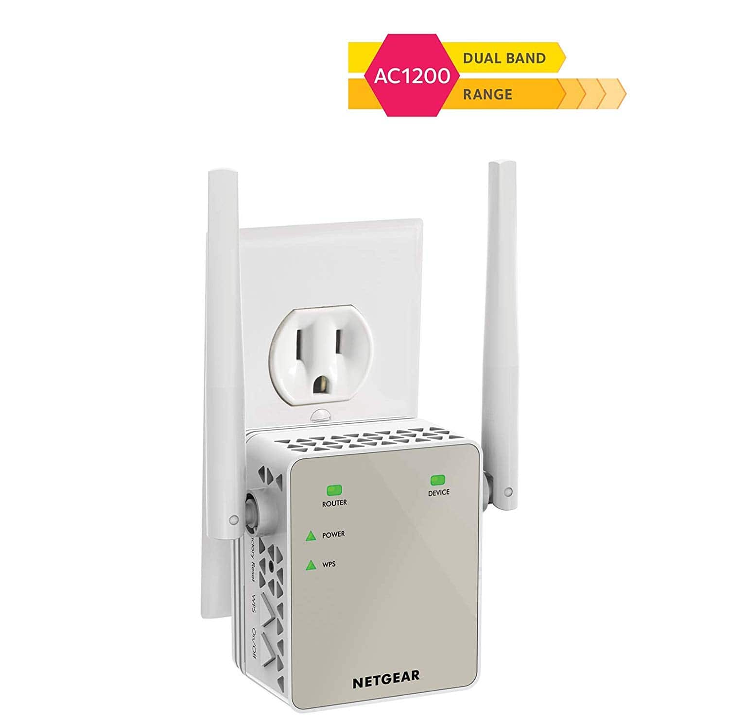 37% Off on NETGEAR Wi-Fi Range Extender EX6120 - Coverage up to 1200 sq.ft. and 20 devices with AC1200 Dual Band Wireless Signal Booster & Repeater $35.99