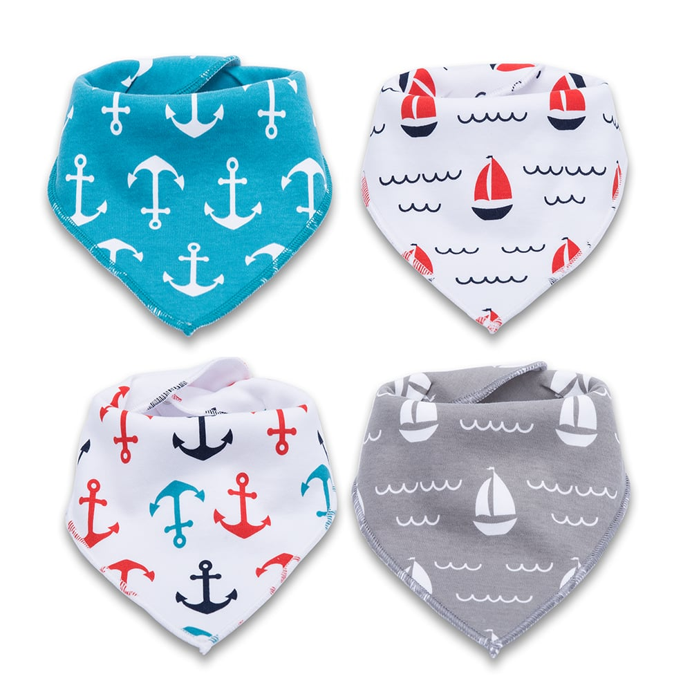 4 Pack of Corewill Baby Bandana Drool Bibs for Boys and Girls $7.99+free shipping