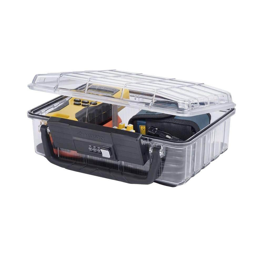 Husky 11 in. 5-Compartment Polycarbonate Deep Storage Bin with Lock and Handle $9.88 at homedepot.com