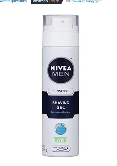 add on item $7 for NIVEA FOR MEN Sensitive, Shaving Gel 7 oz (Pack of 3)