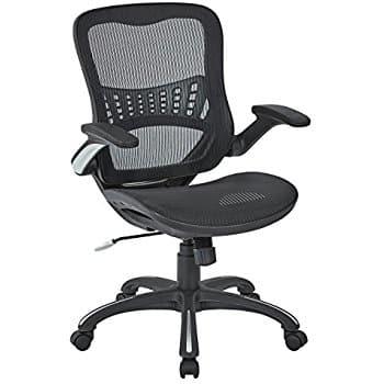Office Star Mesh Back & Seat, 2-to-1 Synchro & Lumbar Support Managers Chair, Black  - $108.75 + tax with Free Shipping