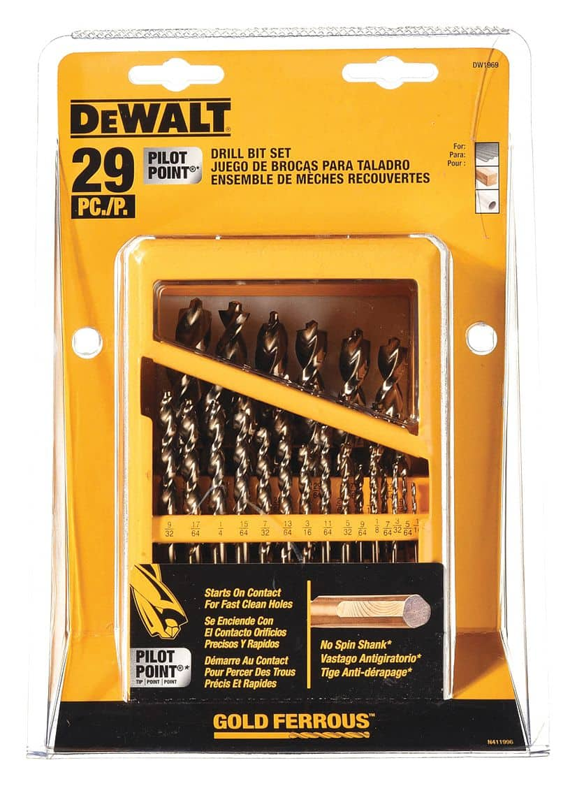 DEWALT Drill Bit Set with Metal Index, 29-Piece (DW1969)  - Amazon $32.99 + Free Shipping