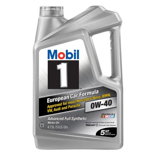 Mobil 1 Full Synthetic Motor Oil 5-Quart for $20.35 @Walmart