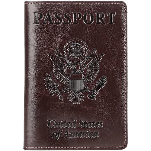 Shvigel Leather Passport Cover - Holder - for Men & Women - Passport Case for $7.99 + FS for Prime members