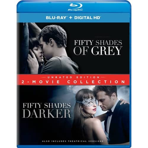 Fifty Shades of Grey / Fifty Shades Darker 2-Movie Collection Blu Ray for $12.49