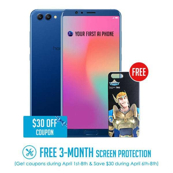 ** BUY BETWEEN APRIL 6-8** Honor View 10 with free Phone Case for $469