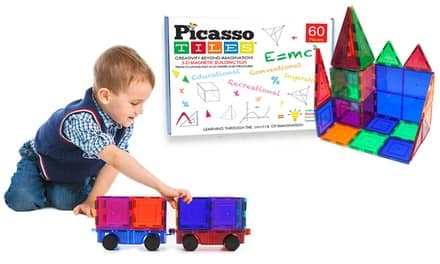 Picasso Tiles 3D Magnetic Building Block Sets $9.99 at groupon