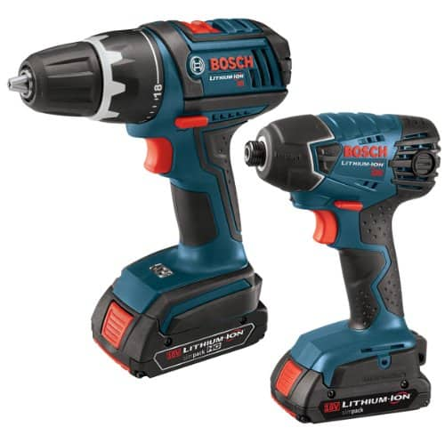 Bosch CLPK232-181 18V Max 2-Tool Combo Kit $174.99 with FREE third 18v battery(~$100 value)/ Free shipping 18-volt compact tough drill driver,18-volt impact driver