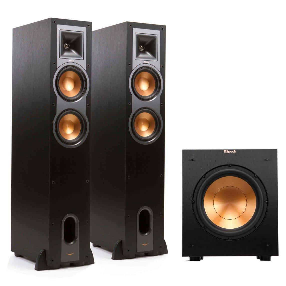 Klipsch R-26F 2.1 system (Two floor standing speakers and sub woofer) $523