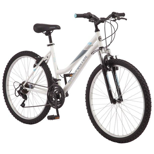 "Roadmaster 26"" Granite Peak Women's Mountain Bike, White $98 Shipped"