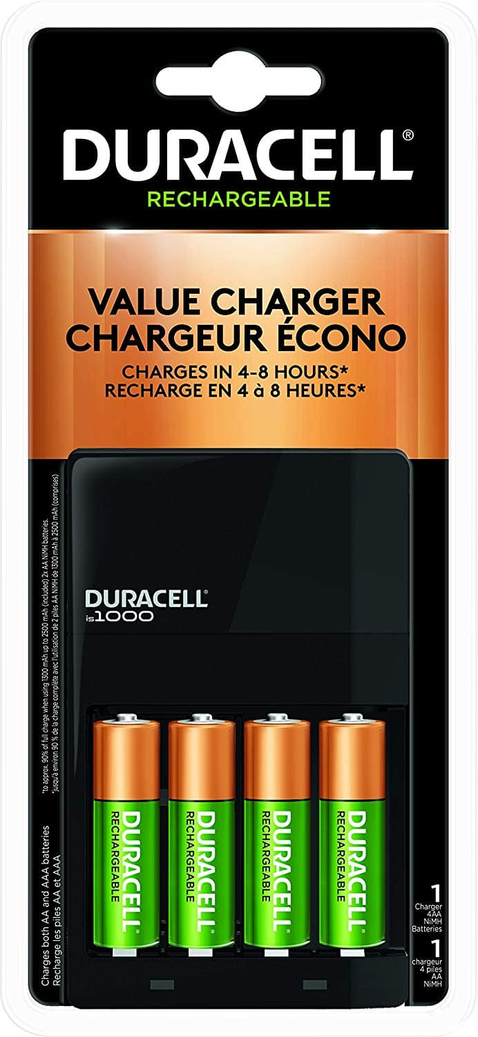 Duracell AA/AAA NIMH Charger With 4 AA NIMH Batteries