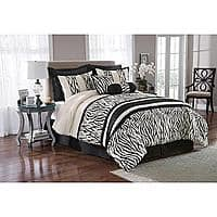 Kmart Deal: Kmart.com  - King Size 8-Piece Zebra Print Comforter + Bedding Set - $23.99