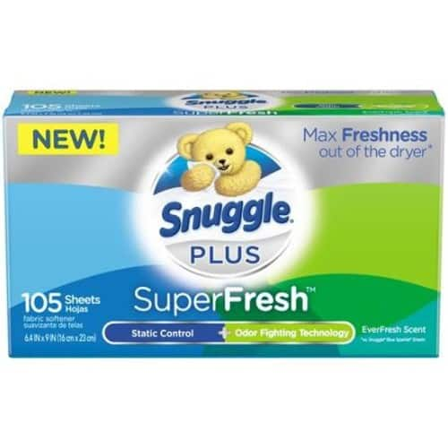 add on item $3.97 Snuggle Plus Super Fresh Fabric Softener Dryer Sheets, EverFresh, 105 Count