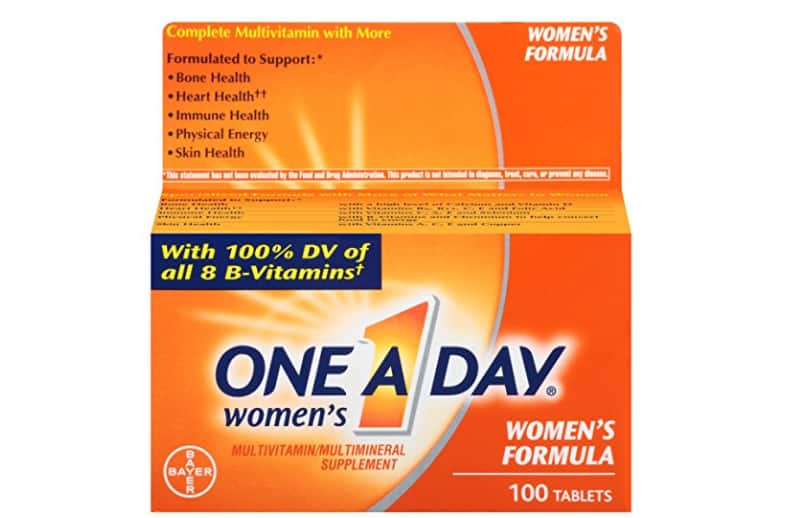 $3.99 ($9.86, 60% off) One-A-Day Women's Multivitamin, Tablets - 100-Count