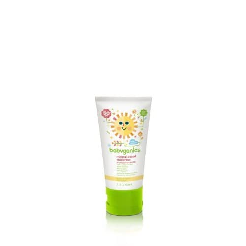 Babyganics Mineral-Based Baby Sunscreen Lotion, SPF 50, 2oz Tube (Pack of 4) for $9.71@amazon