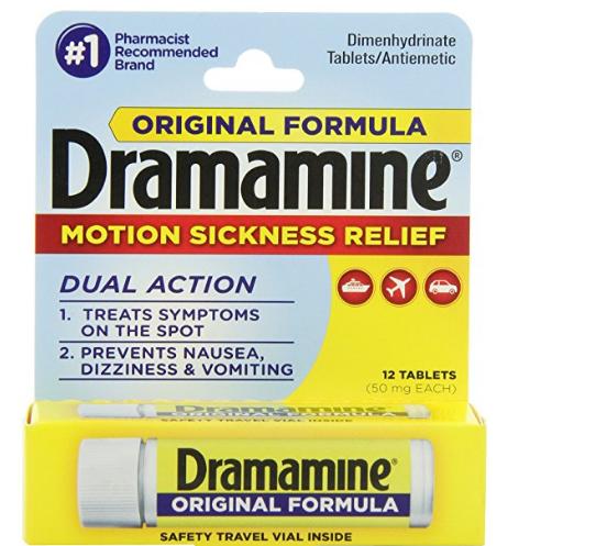 $3.09 Dramamine Motion Sickness Relief Original Formula, 50 mg, 12 Count