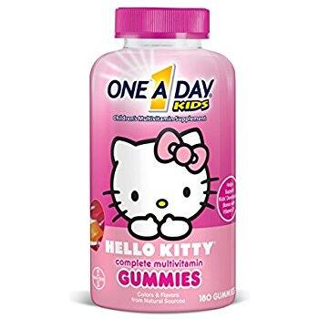 $8.39 One A Day Kids Hello Kitty Gummies, 180 Count