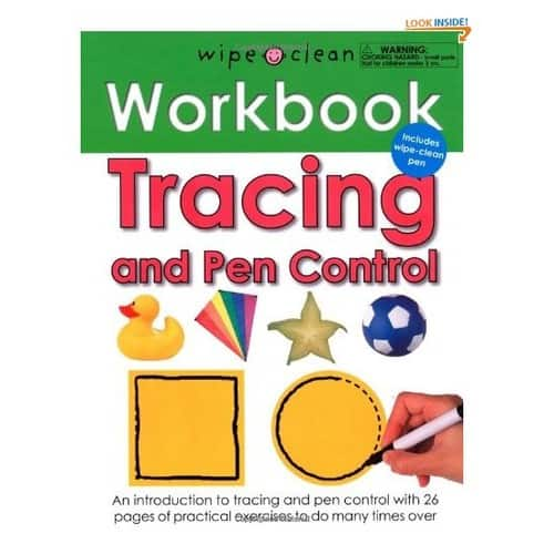 $4.65 for Wipe Clean Workbook Tracing and Pen Control (Wipe Clean Workbooks)