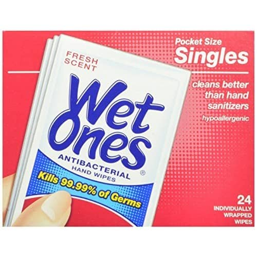 $8.41 Wet Ones Antibacterial Hand and Face Wipes Singles, 24-Count (Pack of 5)