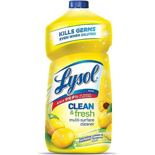 $7.43 Lysol Clean & Fresh Multi-Surface Cleaner, Sparkling Lemon and Sunflower Essence, 40 oz, Pack of 3