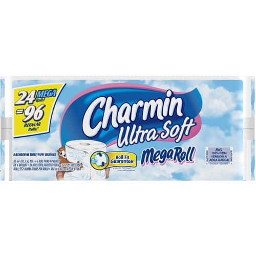 $21.58 Charmin Ultra Strong Toilet Paper, Bath Tissue, Mega Roll, 24 Count
