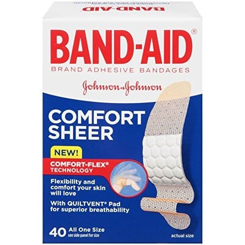 $1.97 for  Band-Aid Adhesive Bandages, Sheer, All One Size 40 sterile bandages