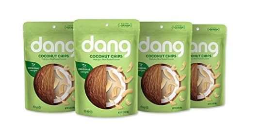 $9.12 for Dang Gluten Free Toasted Coconut Chips, Original, 3.17oz Bags, 4 Count Bundle @amazon