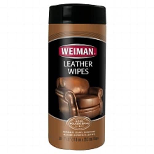 $3.59 for add- on item Weiman Leather Wipes - Clean and Condition Car Seats, Shoes, Couches and More - 30 Count