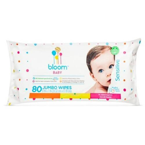 $3.03 for  80-Count  add- on item bloom BABY Sensitive Skin Unscented Hypoallergenic Baby Wipes,