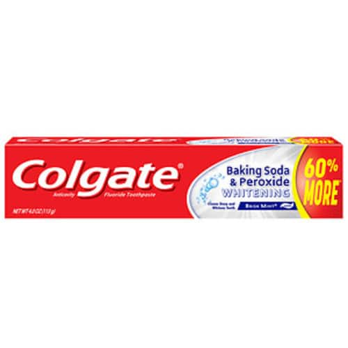 add-on item Colgate Baking Soda and Peroxide Whitening Toothpaste - 6 ounce (2 Count)  for $2.96