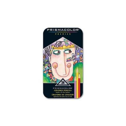 77% off Prismacolor Premier Colored Pencils, Soft Core, 24-Count for $9