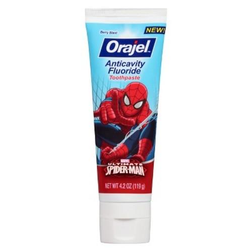 add- on item $1.49 Orajel Spider-Man Anticavity Fluoride Toothpaste, Berry Blast, 4.2 Oz