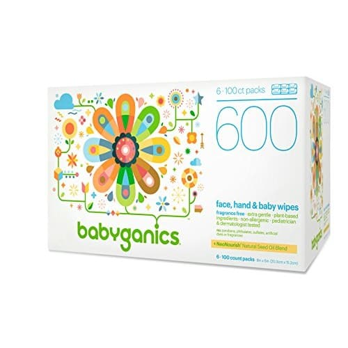 600-Count Babyganics Face, Hand & Baby Wipes (Fragrance Free) $11.97 w/ S&S + Free S/H