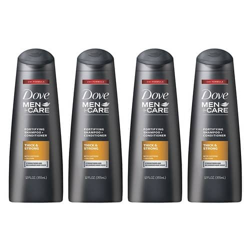 $11.31 for Dove Men+Care 2 in 1 Shampoo and Conditioner, Thick and Strong 12 oz, 4 count