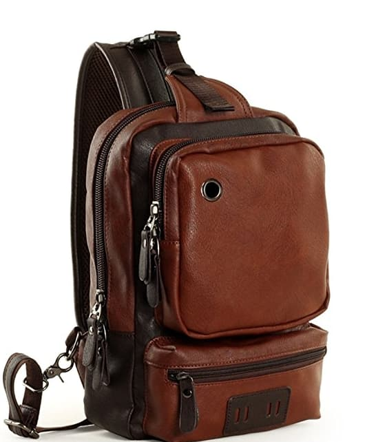 50% Off Sale: Messenger Cross Shoulder Bag PU Leather Chest Pack Backpack $8.99-$12.99 & More @ Amazon + FS