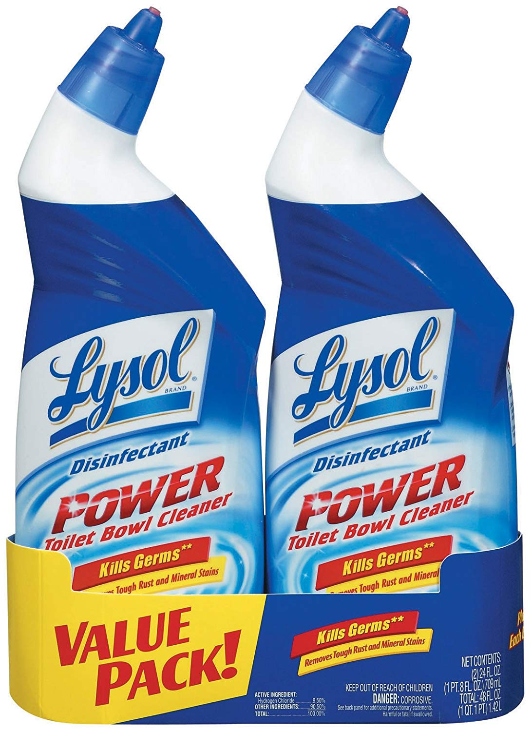 2 pack  24oz. Lysol Power and Free Toilet Bowl Cleaner $3.33+ Free shipping