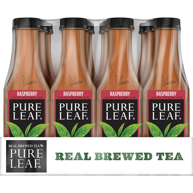 12-Pack of 18.5oz Pure Leaf Sweetened Iced Tea (Raspberry Tea) $7.57