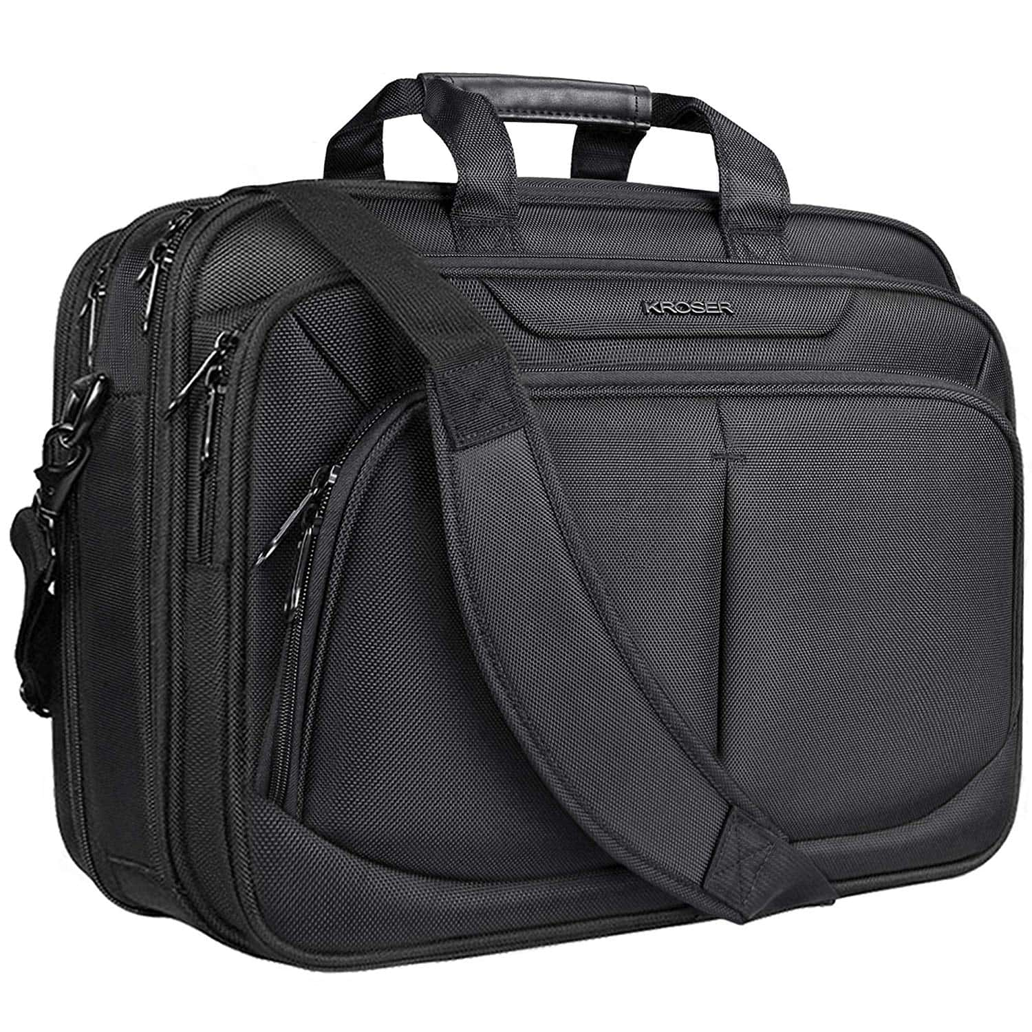 "KROSER 17.1"" Laptop Bag for 15.6""-17"" Laptop Briefcase Water-Repellent Expandable Computer Bag Business Messenger Bag Amazon - $22.49 AC"