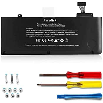 RayHom A1322 A1278 Battery for Mid 2009 2010 2012 Early &Late 2011 MacBook Pro 13 Inch $17.79 AC @ Amazon