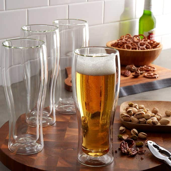 Costco: Henckels Double Wall Beer Glasses  Set of 8 only $30.00 $29.99