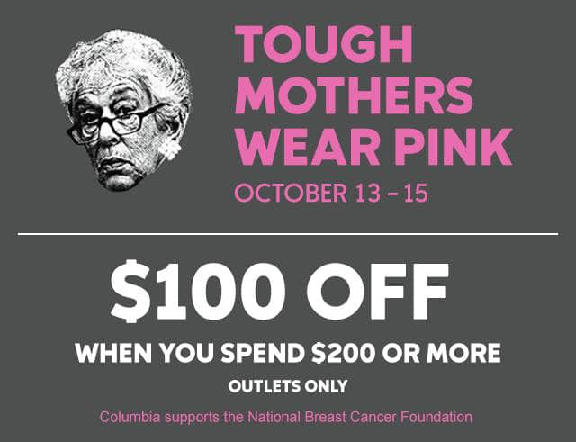 Get $100 off when you spend $200 in Outlet stores