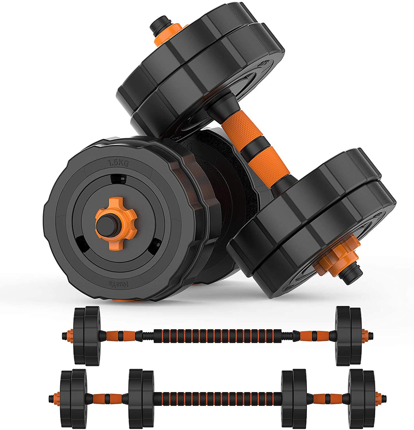 BOSWELL 31lbs Adjustable Weights Barbell Dumbbells Set $80.50 + Free shipping