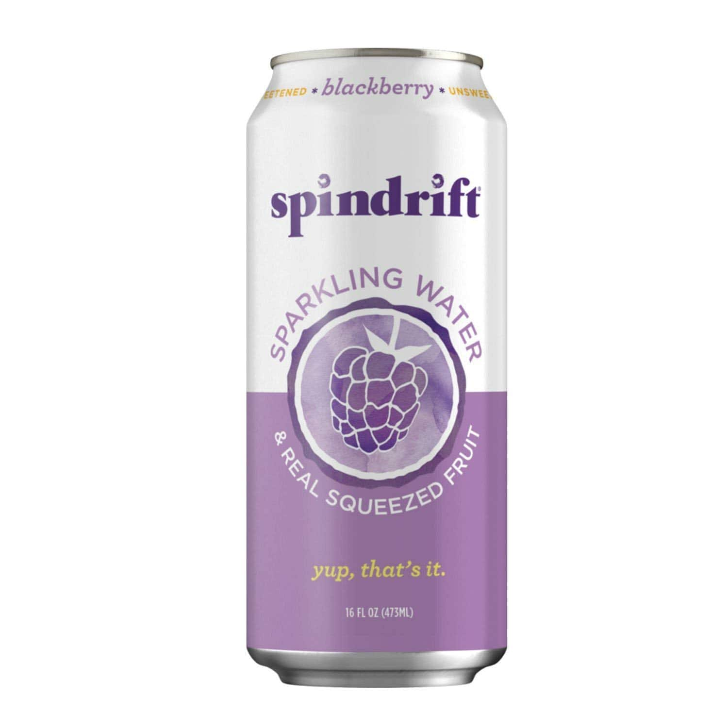Spindrift Blackberry Sparkling Water, 16-Fluid-Ounce Cans, Pack of 12 for $11.38 + FS