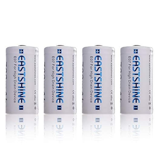 4-Pack EASTSHINE 3.7v 700mAh 16340/RCR123A Li-ion Rechargeable Battery for Arlo Flashlight $9.97
