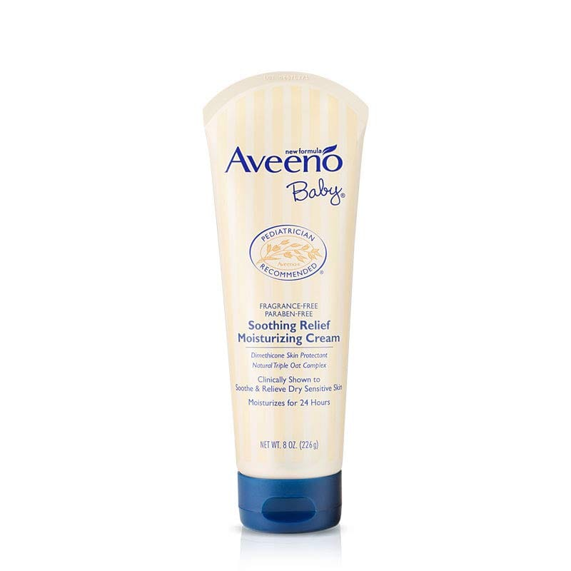 Aveeno Baby Soothing Relief Moisturizing Cream with Natural Oat Complex, 8-Oz for $6.62