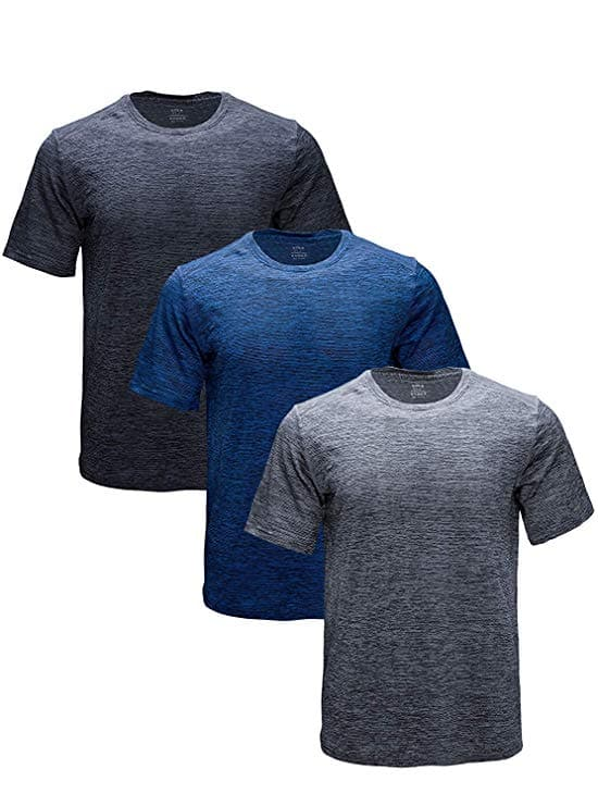 3-Pack Men's Athletic Dry Fit Short Sleeve T Shirts $21.44 + free shipping