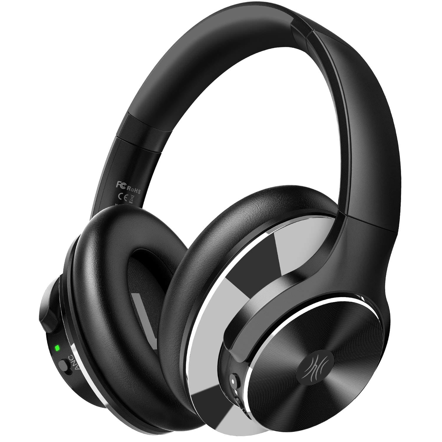 Active Noise Cancelling Bluetooth 5.0 Over Ear Headphones with Mic & 40H Playtime - $41.99